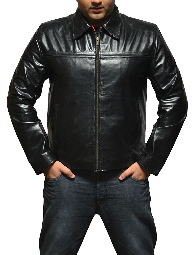 Layer Cake Black Leather Jacket