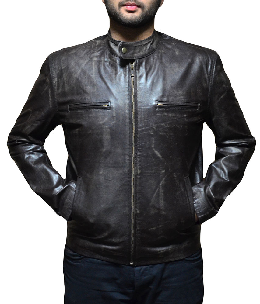 Contraband Mark Wahlberg Brown Leather Jacket