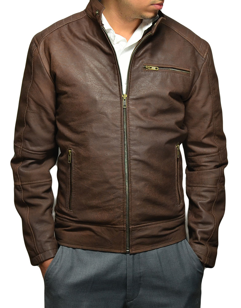 Men's Suede Brown Fashion Jacket