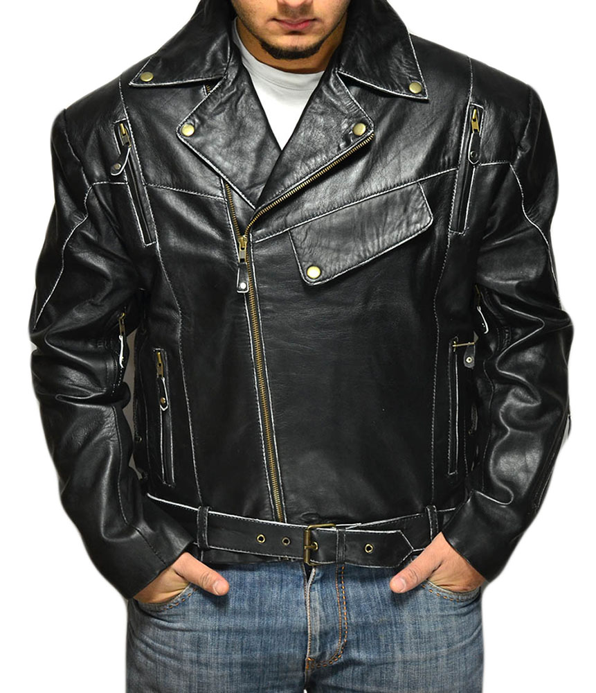 Terminator Vintage Distressed Biker Jacket