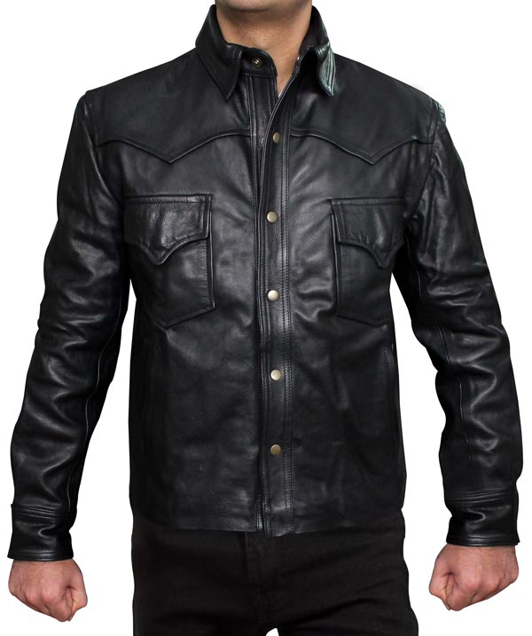 Walking Dead David Morrissey Governor Leather Jacket
