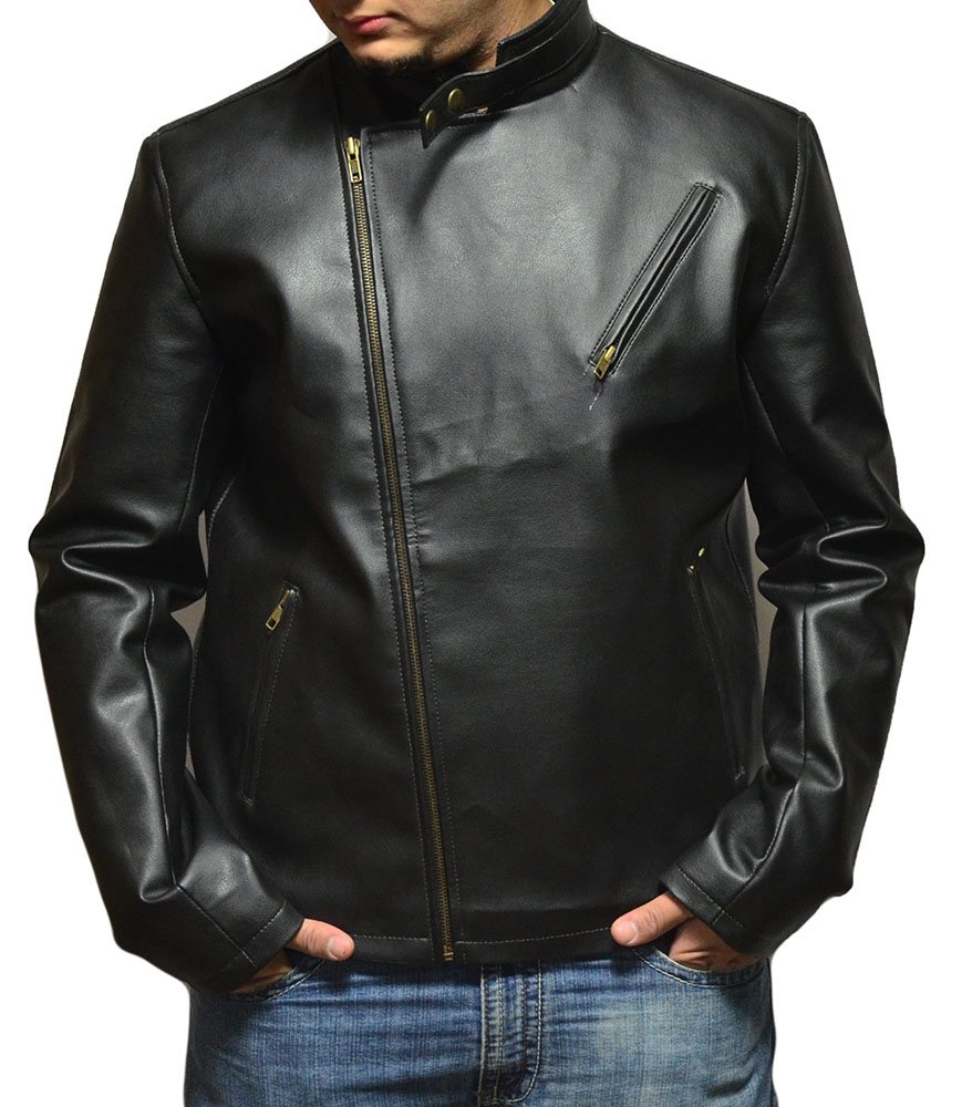 Tony Stark Iron Man Black Leather Jacket