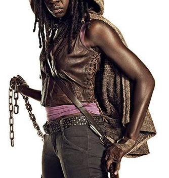 The Walking Dead Michonne Women Leather Vest