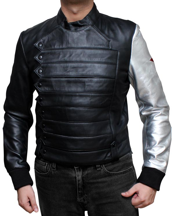 Bucky Barnes Jacket With Silver Sleeve