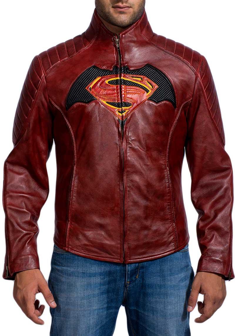 Batman Vs Superman Maroon Jacket