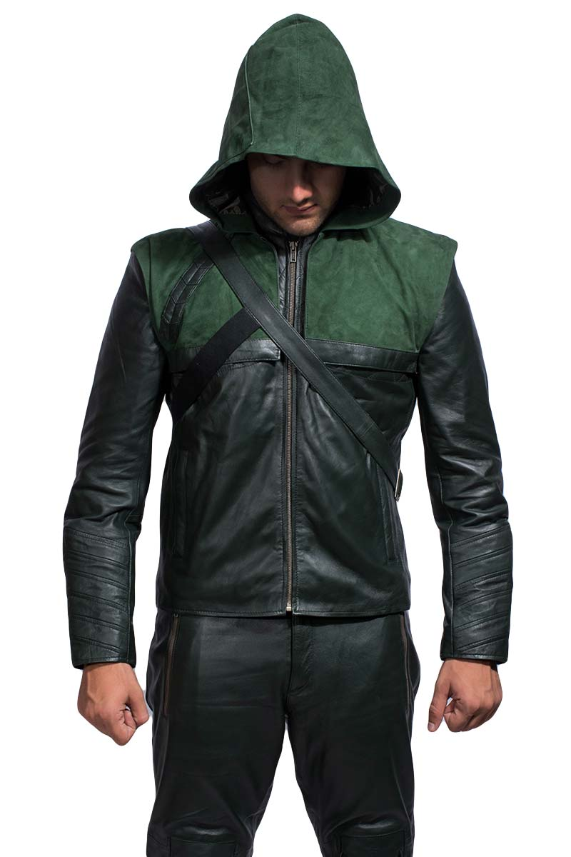 Green Hooded Leather Costume