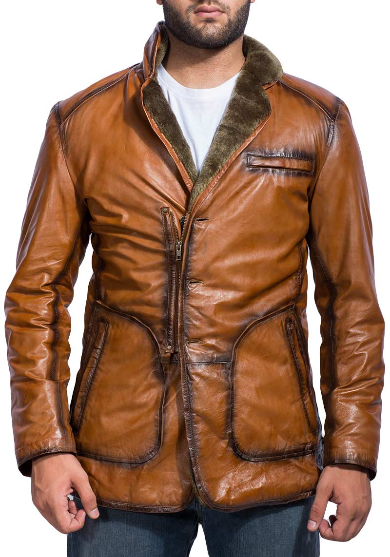 Men's Brown Fur Jacket