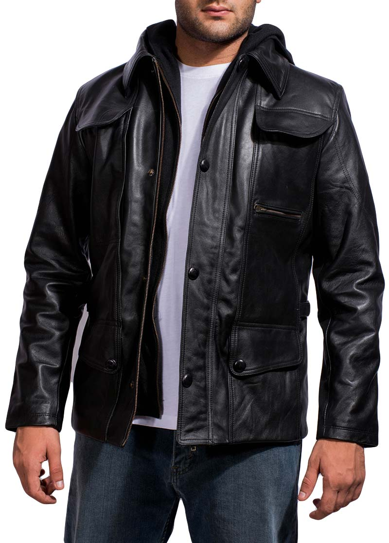 Terminator Genisys Black Leather Jacket