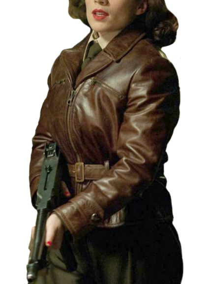 Captain America Hayley Atwell Brown Jacket