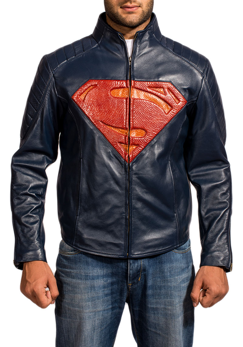 Superman Man Of Steel Exlusive Leather Jacket