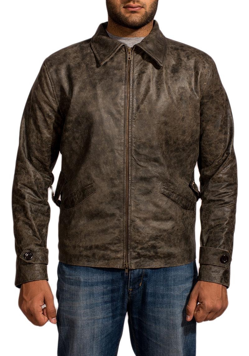 Chalky Black Leather Jacket