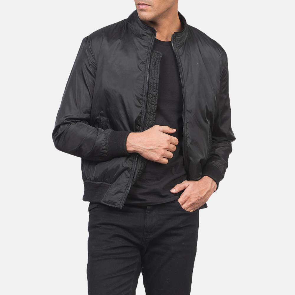 Men's Ramon Black Bomber Jacket 6
