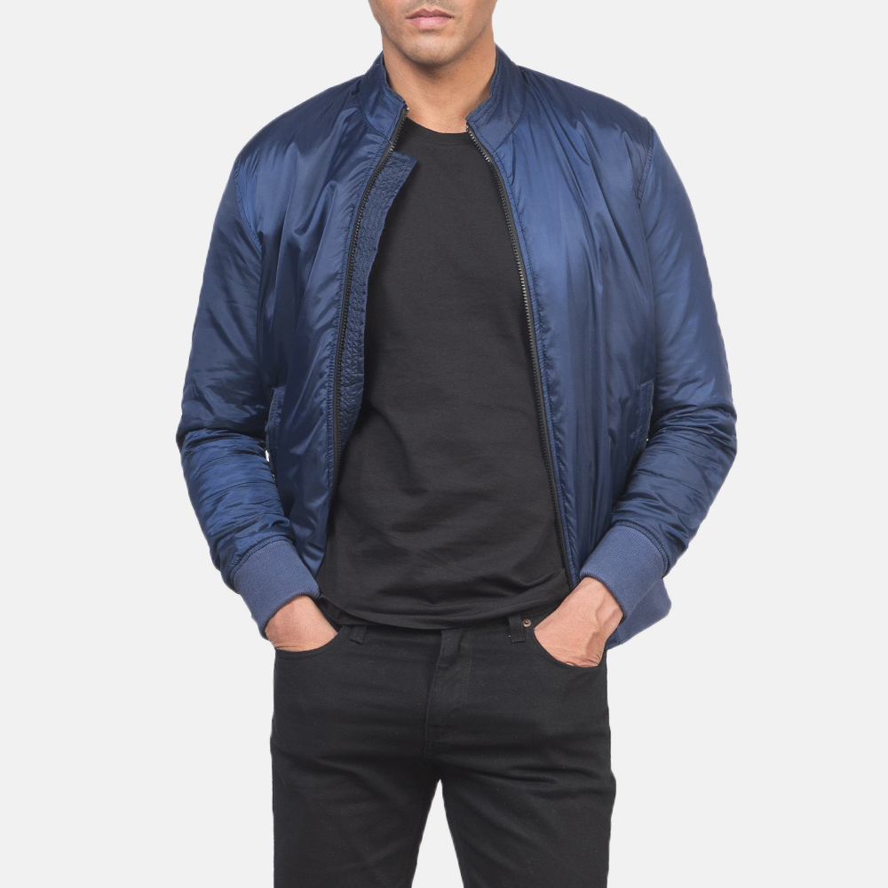 Men's Ramon Blue Bomber Jacket 6