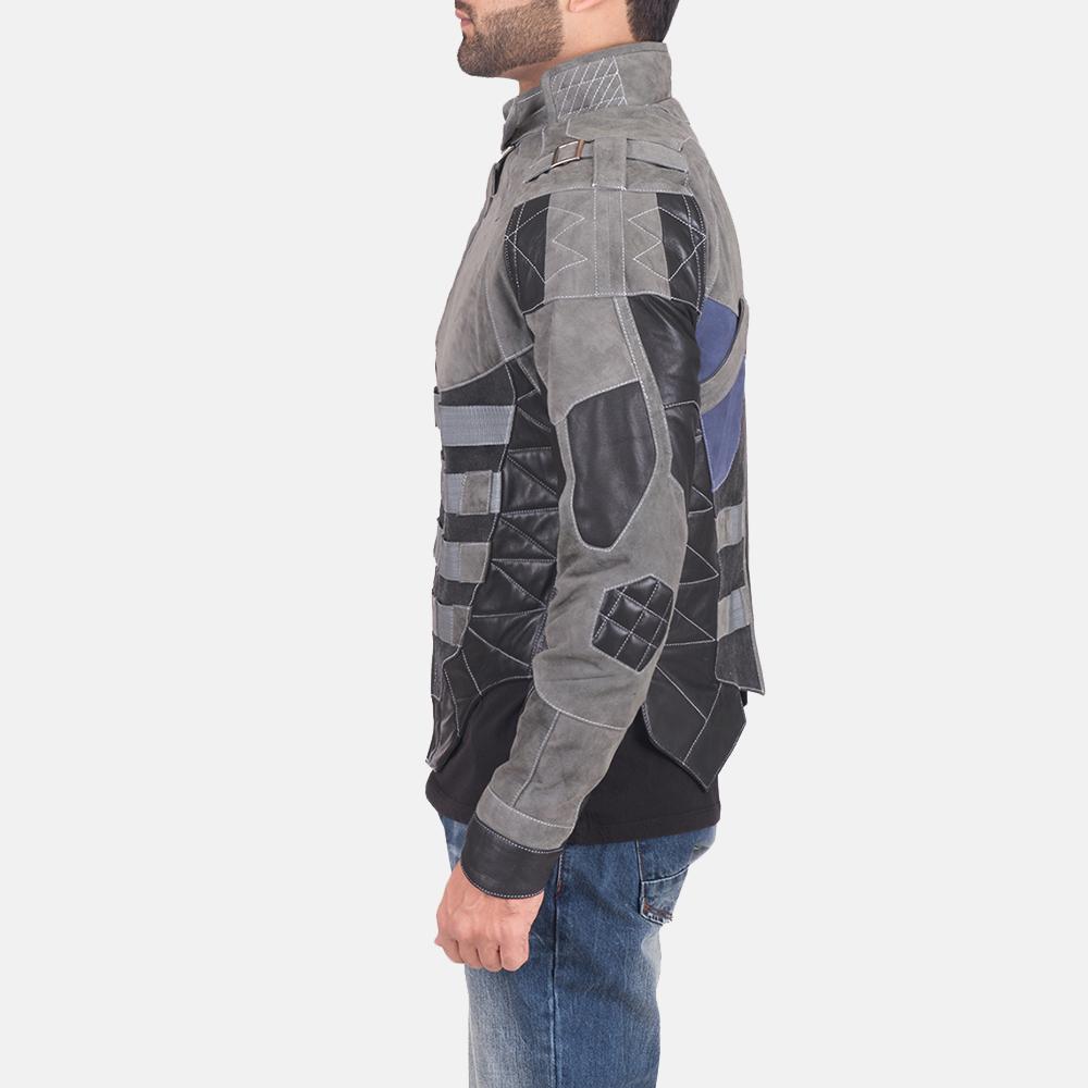 Militia Grey Leather Jacket 4